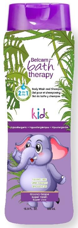 Bath Therapy Kids 2в1 шампунь, гель для душа Сладкий виноградBath Therapy<br>ЗДОРОВЫЙ ВЫБОР ДЛЯ ВАШЕГО РЕБЕНКА Ультранежный гель для душа и шампунь для волос идеально подходит для мягкого очищения чувствительной детской кожи. Тщательно разработанная, безопасная формула не содержит вредных химических веществ и защищает слизистую глаз от раздражения.В состав средств Bath therapy входят только БЕЗОПАСНЫЕ для здоровья ингредиенты.- Формула «без слез»- Без парабенов- Без фталатов- Без искусственных красителей- Нейтральный для кожи pH ДЛЯ ДЕТЕЙ ОТ ТРЕХ ЛЕТ И СТАРШЕ.Способ применения: Шампунь – нанесите шампунь на мокрые волосы, вспеньте. Тщательно смойте. При необходимости повторите процедуру. Гель для душа - нанесите гель на губку или непосредственно на кожу, вспеньте и помассируйте легкими круговыми движениями. Смойте теплой водой. Меры предосторожности: только для наружного применения. Избегайте попадания в глаза. При попадании в глаза тщательно промойте их водой. Условия хранения: хранить в сухом, прохладном темном месте, недоступном для детей, при температуре от 5?C до 37? С.                Изготовитель: BELCAM INC., 27 Montgomery street, Rouses Point, New York, 12979 United States of America (США). Филиалы: Belcam Inc., 9 Montcalm North Suite. #400, Candiac, Quebec. J5R 3L5, Canada (Канада): European Business centre Riverside view - Thornes Lane Wakefield WF1 5QW, England (Англия) Организация, уполномоченная изготовителем на принятие претензии от потребителя и ее юридический адрес/Импортер: ООО «Планет Косметикс»,117342, Россия, г. Москва, ул. Бутлерова, д.17Б, помещение XI, ком.58. Тел/факс: 8(495) 937-69-11 Состав: WATER, COCAMIDOPROPYL BETAINE (FROM COCONUT OIL OR PALM OIL), DECYL GLUCOSIDE &amp;amp; LAURYL GLUCOSIDE (FROM CORN STARCH &amp;amp; COCONUT OIL), GLYCERIN (FROM SAPONIFACATION OF VEGETABLE OIL), COCO-GLUCOSIDE &amp;amp; GLYCERYL (FROM CORN STARCH &amp;amp; COCONUT OIL &amp;amp; SUNFLOWER OIL), XANTHAN GUM (FROM FERMENTATION OF VEGETABLE GLUCOSE OR SUCR