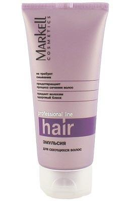 Markell Эмульсия для секущихся волосMarkell<br>Интенсивная терапия для поврежденных волос. Эмульсия ламинирует и полирует поверхность волоса. Комплекс натуральных белков: кератин-коллаген-эластин — создает на поверхности волоса тонкую воздухопроницаемую пленку, увлажняет и восстанавливает структуру волоса по всей длине, предотвращает сухость, сечение и ломкость, делает волосы более гладкими. Комплекс силиконов — обеспечивает превосходное кондиционирование, придает волосам блеск, предотвращает повреждение.<br><br>Вес г: 150<br>Бренд : Markell<br>Объем мл: 100<br>Тип волос : поврежденные, длинные и секущиеся<br>Действие : увлажнение, восстановление, блеск и эластичность<br>Тип средства для волос : сыворотка/эссенция<br>Страна производитель : Белоруссия