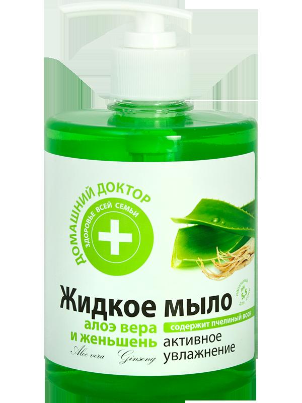 Эльфа Жидкое мыло Алоэ вера и ЖеньшеньЭльфа<br>Активное увлажнениеСодержит пчелиный воск Жидкое мыло с добавлением экстрактов алоэ вера, женьшеня и пчелиного воска прекрасно очищает и смягчает кожу рук и тела. Благодаря специальной формуле моющей основы жидкое мыло рекомендуется для частого применения. рН  жидкого мыла составляет 5,5, что приближено к физиологическому рН кожи.Алоэ вера идеально увлажняет кожу. Проявляет бактерицидные и тонизирующие свойства.Женьшень в народной медицине называют «корнем жизни». Оказывает противовоспалительное, общеукрепляющее действие на кожу, предупреждает ее преждевременное старение. Пчелиный воск предотвращает обезвоживание кожи, повышает ее упругость и эластичность. Обладает смягчающими свойствами.Способ применения: нанести на влажную кожу, вспенить, смыть водой.Состав (INCI): Aqua, Sodium Laureth Sulfate, Cocamide DEA, Sodium Chloride, Cocamidopropyl Betaine, PEG-7 Glyceryl Cocoate, Glycerin,Parfum, Aloe Barbadensis Leaf Extract, Panax Ginseng Root Extract , Beeswax Extract, Benzyl Alcohol, Methylchloroisothiazolinone, Methylisothiazolinone, CI 19140, CI 42090.Объем 500 мл<br><br>Вес г: 550<br>Бренд : Эльфа<br>Объем мл: 500<br>Страна производитель : Украина