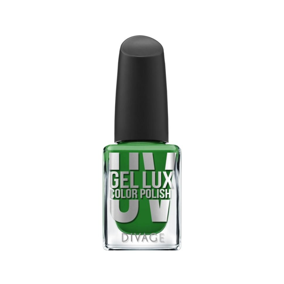 Divage Лак для ногтей UV Gel Lux (09 зеленый)Divage<br>Лак, созданный по инновационной технологии, не требует высыхания под лампой и удаляется обычным средством для снятия лака. Профессиональная гелевая система позволяет увеличить стойкость маникюра до 10 дней без сколов и растрескиваний благодаря сочетанию инновационных формул лака и топ-покрытия. Лак обеспечивает идеально ровное глянцевое покрытие и легкое нанесение, а кроме того защищает ногтевую пластину от механических повреждений. Коллекция представлена в 21 самых трендовых цветах. Яркие оттенки не потускнеют до последнего дня носки, а эффектный блеск сделает твой маникюр особенно привлекательным. Новая коллекция UV GEL LUX COLOR POLISH  от DIVAGE станет твоим незаменимым помощником в создании идеальных ноготков.<br>Особенности состава:<br>Профессиональная гелевая система позволяет увеличить стойкость маникюра до 10 дней без сколов и растрескиваний благодаря сочетанию инновационных формул лака и топ-покрытия.<br>Мнение эксперта:<br>Всего 2 простых шага для твоего безупречного маникюра: Нанеси на предварительно очищенные и обезжиренные ногти один, при желании два, тонких слоя цветного гелевого лака UV GEL LUX COLOR POLISH, дай высохнуть. После этого нанеси верхнее защитное покрытие UV GEL LUX TOP COAT, благодаря которому твой маникюр продержится до 10 дней. Необходимо запечатать торцы ногтя, чтобы маникюр держался дольше и выглядел аккуратнее.<br>Состав:<br>Этил ацетат, ацетобутират целлюлозы, бутил ацетат, изопропиловый спирт, ацетилтрибутилцитрат, адипиновая кислота/неопентилгликоль/тримеллитик ангидрид сополимер, полиакрилаты, гидроксиэтилакрилат/изофорондиизоцианат/ полипропиленгликоль-15 глицерил эфир сополимер, триметилпентанедил дибензоат, этиловый триметилбензоил фенил-фосфинат, N-бутиловый спирт, CI 60725<br><br>Вес г: 93<br>Бренд : Divage<br>Объем мл: 10<br>Вид лака : гель-лак<br>Эффект на ногтях : гелевое покрытие<br>Страна производитель : Россия