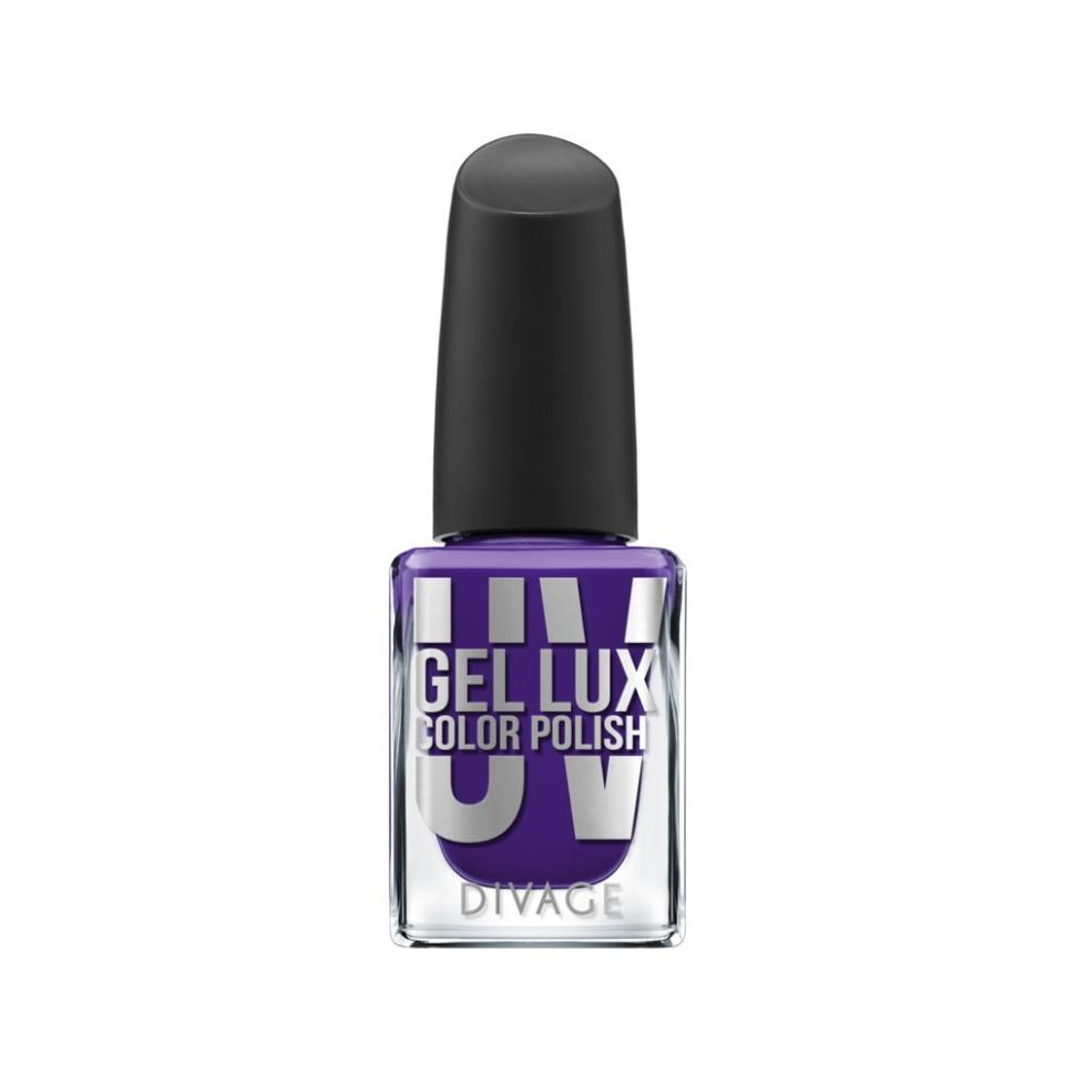 Divage Лак для ногтей UV Gel Lux (11 фиолетовый)Divage<br>Лак, созданный по инновационной технологии, не требует высыхания под лампой и удаляется обычным средством для снятия лака. Профессиональная гелевая система позволяет увеличить стойкость маникюра до 10 дней без сколов и растрескиваний благодаря сочетанию инновационных формул лака и топ-покрытия. Лак обеспечивает идеально ровное глянцевое покрытие и легкое нанесение, а кроме того защищает ногтевую пластину от механических повреждений. Коллекция представлена в 21 самых трендовых цветах. Яркие оттенки не потускнеют до последнего дня носки, а эффектный блеск сделает твой маникюр особенно привлекательным. Новая коллекция UV GEL LUX COLOR POLISH  от DIVAGE станет твоим незаменимым помощником в создании идеальных ноготков.<br>Особенности состава:<br>Профессиональная гелевая система позволяет увеличить стойкость маникюра до 10 дней без сколов и растрескиваний благодаря сочетанию инновационных формул лака и топ-покрытия.<br>Мнение эксперта:<br>Всего 2 простых шага для твоего безупречного маникюра: Нанеси на предварительно очищенные и обезжиренные ногти один, при желании два, тонких слоя цветного гелевого лака UV GEL LUX COLOR POLISH, дай высохнуть. После этого нанеси верхнее защитное покрытие UV GEL LUX TOP COAT, благодаря которому твой маникюр продержится до 10 дней. Необходимо запечатать торцы ногтя, чтобы маникюр держался дольше и выглядел аккуратнее.<br>Состав:<br>Этил ацетат, ацетобутират целлюлозы, бутил ацетат, изопропиловый спирт, ацетилтрибутилцитрат, адипиновая кислота/неопентилгликоль/тримеллитик ангидрид сополимер, полиакрилаты, гидроксиэтилакрилат/изофорондиизоцианат/ полипропиленгликоль-15 глицерил эфир сополимер, триметилпентанедил дибензоат, этиловый триметилбензоил фенил-фосфинат, N-бутиловый спирт, CI 60725<br><br>Вес г: 93<br>Бренд : Divage<br>Объем мл: 10<br>Вид лака : гель-лак<br>Эффект на ногтях : гелевое покрытие<br>Страна производитель : Россия