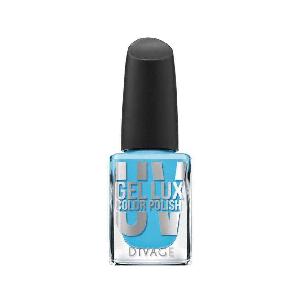 Divage Лак для ногтей UV Gel Lux (17 голубой)Divage<br>Лак, созданный по инновационной технологии, не требует высыхания под лампой и удаляется обычным средством для снятия лака. Профессиональная гелевая система позволяет увеличить стойкость маникюра до 10 дней без сколов и растрескиваний благодаря сочетанию инновационных формул лака и топ-покрытия. Лак обеспечивает идеально ровное глянцевое покрытие и легкое нанесение, а кроме того защищает ногтевую пластину от механических повреждений. Коллекция представлена в 21 самых трендовых цветах. Яркие оттенки не потускнеют до последнего дня носки, а эффектный блеск сделает твой маникюр особенно привлекательным. Новая коллекция UV GEL LUX COLOR POLISH  от DIVAGE станет твоим незаменимым помощником в создании идеальных ноготков.<br>Особенности состава:<br>Профессиональная гелевая система позволяет увеличить стойкость маникюра до 10 дней без сколов и растрескиваний благодаря сочетанию инновационных формул лака и топ-покрытия.<br>Мнение эксперта:<br>Всего 2 простых шага для твоего безупречного маникюра: Нанеси на предварительно очищенные и обезжиренные ногти один, при желании два, тонких слоя цветного гелевого лака UV GEL LUX COLOR POLISH, дай высохнуть. После этого нанеси верхнее защитное покрытие UV GEL LUX TOP COAT, благодаря которому твой маникюр продержится до 10 дней. Необходимо запечатать торцы ногтя, чтобы маникюр держался дольше и выглядел аккуратнее.<br>Состав:<br>Этил ацетат, ацетобутират целлюлозы, бутил ацетат, изопропиловый спирт, ацетилтрибутилцитрат, адипиновая кислота/неопентилгликоль/тримеллитик ангидрид сополимер, полиакрилаты, гидроксиэтилакрилат/изофорондиизоцианат/ полипропиленгликоль-15 глицерил эфир сополимер, триметилпентанедил дибензоат, этиловый триметилбензоил фенил-фосфинат, N-бутиловый спирт, CI 60725<br><br>Вес г: 82<br>Бренд : Divage<br>Объем мл: 10<br>Вид лака : гель-лак<br>Эффект на ногтях : гелевое покрытие<br>Страна производитель : Россия