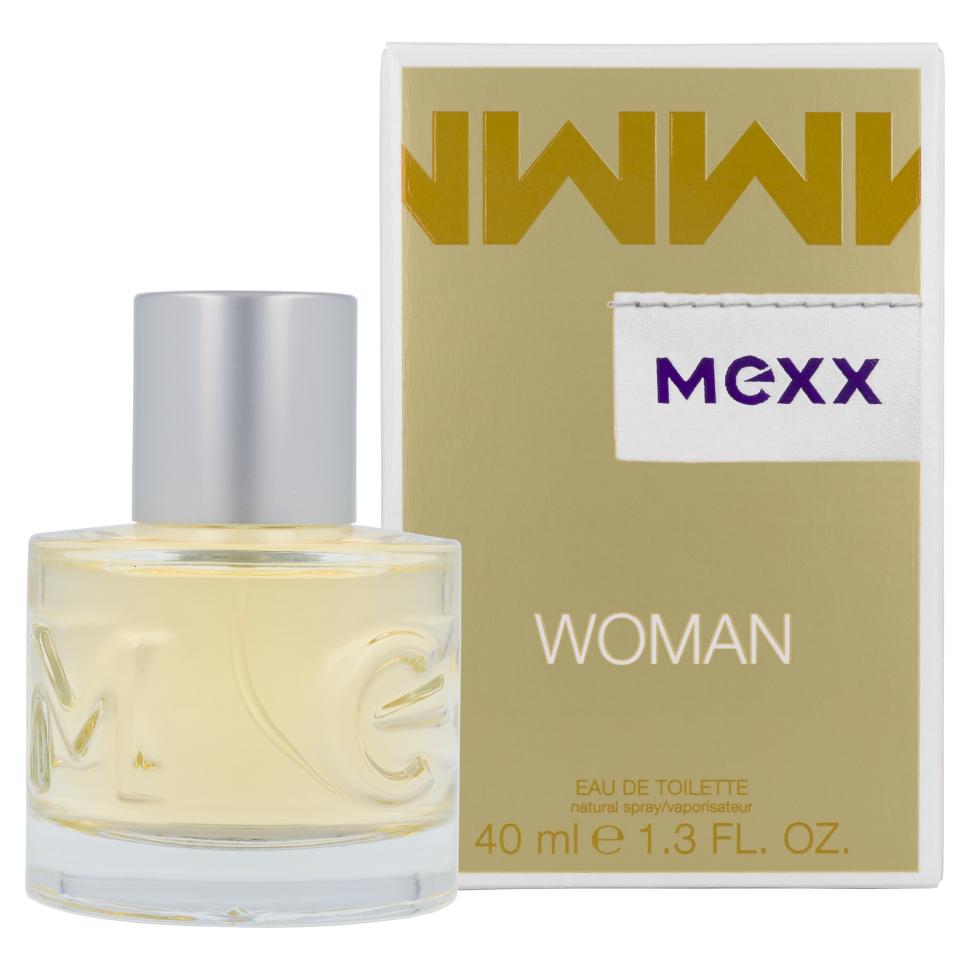 Mexx Woman Туалетная вода 40 млMexx<br>Руководство по выбору:<br>Дневной и вечерний аромат<br>Описание:<br>Woman - очень женственный и уверенный аромат. Классификация аромата: цветочный, восточный. Пирамида аромата: верхние ноты: бергамот, черная смородина, лимон, ноты сердца: роза, жасмин, ландыш, ноты шлейфа: сандал, кедр, амбра.<br>Особенности состава:<br>Женственная комбинация фруктовых, цветочных и древесных нот.<br>Мнение эксперта:<br>Мягкий и нежный аромат<br>Состав:<br>Alcohol Denat. . Aqua (Water) . Parfum (Fragrance) . Ethylhexyl Methoxycinnamate . Diethylamino Hydroxybenzoyl Hexyl Benzoate . Bht . Linalool . Hydroxycitronellal . Limonene . Citral . Ci 19140 (Yellow 5) . Ci 14700 (Red 4) . Ci 60730 (Ext. Violet 2) . Ci 17200 (Red 33) . Ci 42090 (Blue 1) .<br><br>Вес г: 130<br>Бренд : Mexx<br>Объем мл: 40<br>Возраст : 14+<br>Страна производитель : Германия<br>Вид Аромата : Цитрусовый<br>Шлейф : Амбра<br>Верхняя Нота : Бергамот, Черная смородина<br>Верхняя Нота : Бергамот, Черная смородина