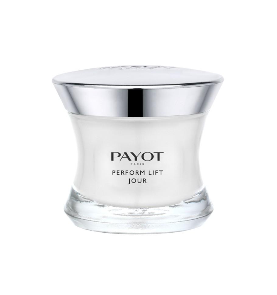 Payot Perform Lift Укрепляющее и подтягивающее средство 50 млPayot<br>Крем подтягивает и разглаживает кожу; возвращает коже упругость и эластичность; заметно разглаживает глубокие морщины.<br>Способ применения:<br>Наносите крем утром на очищенную кожу лица.<br>Состав:<br>AQUA (WATER), GLYCERIN, BUTYROSPERMUM PARKII (SHEA) BUTTER, ISODECYL NEOPENTANOATE, PARAFFINUM LIQUIDUM (MINERAL OIL) , TRIMETHYLOLPROPANE TRICAPRYLATE/TRICAPRATE, CETEARYL ISONONANOATE, GLYCERYL BEHENATE, HYDROGENATED VEGETABLE OIL, PENTAERYTHRITYL DISTEARATE, POLYMETHYL METHACRYLATE, STEARETH-2, STEARETH-21, BUTYLENE GLYCOL, DIMETHICONE, PTFE, PHENOXYETHANOL, SODIUM POLYACRYLATE, PARFUM (FRAGRANCE), CHLORPHENESIN, ETHYLHEXYL STEARATE, TOCOPHERYL ACETATE, O-CYMEN-5-OL, XANTHAN GUM, CITRIC ACID, POLYGLYCERYL-4 DIISOSTEARATE/POLYHYDROXYSTEARATE/SEBACATE, SODIUM HYALURONATE CROSSPOLYMER, SODIUM ISOSTEARATE, SODIUM HYALURONATE, UNDARIA PINNATIFIDA EXTRACT, CARBOMER, SODIUM LACTATE, POLYSORBATE 20, PALMITOYL TRIPEPTIDE-1, PALMITOYL TETRAPEPTIDE-7<br><br>Вес г: 252<br>Бренд : Payot<br>Объем мл: 50<br>Тип кожи : все типы кожи<br>Консистенция : крем<br>Тип крема : питательный, антивозрастной, укрепляющий, восстанавливающий<br>Возраст : 40+<br>Эффект : лифтинг-эффект, выравнивание, моделирует контур лица, эластичность<br>По времени суток : дневной уход<br>Страна производитель : Франция