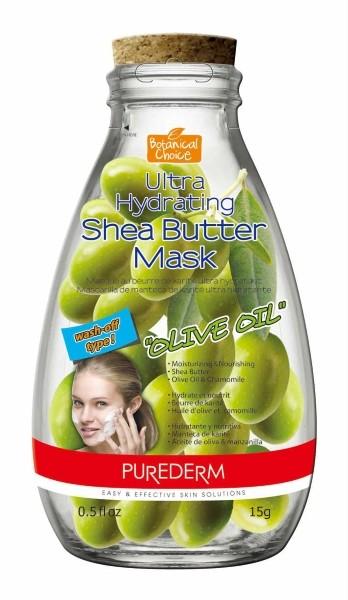 PUREDERM Маска ультра-увлажняющая с маслом Ши ОливаМаски для лица<br>Уникальное сочетание Масла Ши и Масла Оливы, а также других натуральных ингредиентов (Ромашка, Рисовые отруби), для интенсивного увлажнения уставшей сухой кожи. Масло Оливы питает кожу, делает ее более мягкой, гладкой и увлажненной. Каолин бережно очищает и освежает кожу.<br><br>Вес г: 20<br>Бренд : Purederm<br>Объем мл: 15<br>Тип кожи : сухая<br>Консистенция маски : кремообразная<br>Часть лица : лицо<br>По времени суток : дневной уход<br>Назначение маски : увлажняющая, питательная, очищающая<br>Страна производитель : Южная Корея