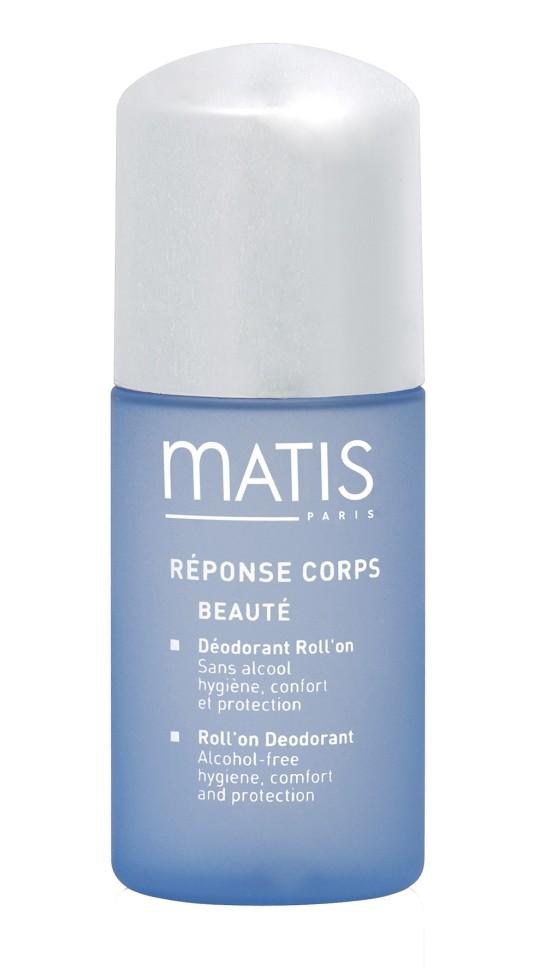 Matis Линия для тела Шариковый дезодорант 50 млMatis<br>Не содержит спирт, подходит для чувствительной кожи. Устраняет неприятный запах и излишние потоотделение. Не оставляет следов на одежде.<br>Способ применения:<br>Наносить на чистую и сухую кожу.<br>Особенности состава:<br>Хлоргидрат алюминия, Аллантоин, Феноксиэтанол,<br>Состав:<br>AQUA  (WATER),  ALUMINUM  CHLOROHYDRATE,  PROPYLENE  GLYCOL, HYDROXYETHYLCELLULOSE, ALLANTOIN, PEG-40 HYDROGENATED CASTOR OIL, PPG-26-BUTETH-26, TOCOPHEROL,  ETHYLHEXYLGLYCERIN,  PARFUM  (FRAGRANCE),  LIMONENE,  LINALOOL,  HEXYL  CINNAMAL, COUMARIN<br><br>Вес г: 110<br>Бренд : Matis<br>Объем мл: 50<br>Тип дезодоранта : шариковый<br>Возраст : 18<br>Страна производитель : Франция