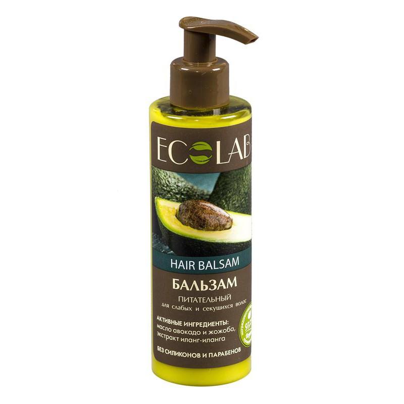 Ecolab Бальзам ПитательныйДля волос<br>Питательный бальзам для слабых и секущихся волос с дозатором.Бальзам Питательный бережно ухаживает за волосами, предотвращая ломкость и спутывание, разглаживает их по всей длине, облегчат расчёсывание и укладку. Масло авокадо питает и укрепляет волосяные луковицы, придает природный блеск, силу и эластичность волосам. Органический экстракт иланг-иланга нормализует водный баланс кожи головы, волосы становятся мягкими и послушными. Масло жожоба защищает от вредного воздействия окружающей среды.Объем: 200 мл.<br><br>Вес г: 250<br>Бренд : Ecolab<br>Объем мл: 200<br>Тип волос : нормальные, смешанные, поврежденные, тонкие и ослабленные, длинные и секущиеся<br>Действие : увлажнение, питание, укрепление, восстановление, легкое расчесывание, блеск и эластичность<br>Тип средства для волос : бальзам