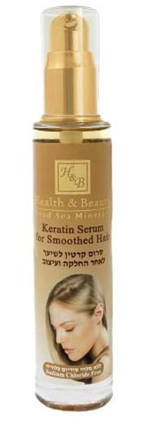 Health&amp;Beauty Серум для волос с КератиномHealth&amp;Beauty<br>Кератин - это вещество, которое покрывает волосяной фолликул и, таким образом, закрывая кончики волос, создает защитное внешнее покрытие, которое окружает и разглаживает волосы. Серум предназначен для волос, которые подверглись выпрямлению или высокому температурному воздействию с помощью фена или керамических выпрямителей - утюжков.Он увеличивает сопротивление ломкости волос и поддерживает результаты выпрямления, восстанавливает расщеплённые кончики волос, защищает от статического электричества, придаёт блеск волосам.Серум обогащён кератином, маслом аргании, маслом жожоба, Омега-6 и витамином Е.<br><br>Вес г: 80<br>Бренд : Health &amp; Beauty<br>Объем мл: 50<br>Тип волос : все типы волос<br>Действие : питание, укрепление, восстановление, блеск и эластичность<br>Тип средства для волос : сыворотка/эссенция<br>Страна производитель : Израиль