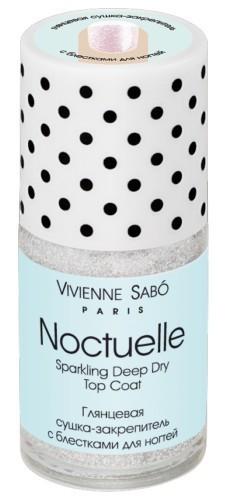 Vivienne Sabo глянцевая сушка-закрепитель для ногтей Noctuelle с блесткамиVivienne Sabo<br>Сушка-закрепитель, глянцевая и прочная, с блестками или без — это must have любого маникюра в наше время, когда никто не любит ждать! В Vivienne Sabo разработали формулу, позволяющую быстро просушить даже несколько слоев лака. А блестки появятся, если просто встряхнуть флаконСвойства продукта:Сушка ускоряет высыхание лака и продлевает срок его ношенияЕсли флакон не встряхивать перед использованием, слюдяные частички будут на дне флакона и дает возможность использовать сушку как обычное покрытие для классического маникюраГолографическая сушка создает маникюр от классики до ультра модногоСоветы по применению:Блестящие частички в зависимости от концентрации могут использоваться в качестве декора для создания праздничного маникюра. Нанесите поверх декоративного лака.Срок годности: 30 мес.<br><br>Вес г: 20<br>Бренд : Vivienne Sabo<br>Объем мл: 15<br>Страна производитель : Россия<br>Тип средства для ногтей : сушка для лака
