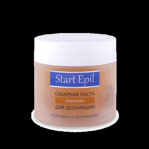 Start Epil Сахарная паста для депиляции Плотная 400грStart Epil<br>Сахарная паста для шугаринга предназначена для мануальной техники депиляции. Рекомендована для использования в тёплых помещениях, а также в помещениях со средней температурой. Сахарная паста не травмирует живые клетки кожи, деликатно удаляя волосы 2-5 мм. Волосы становятся более тонкими и ослабленными. Диаметр уменьшается на 50%. Последующие процедуры депиляции становятся менее болезненными и понадобятся все реже и реже.<br><br>Вес г: 450<br>Бренд: Start Epil<br>Объем мл: 400