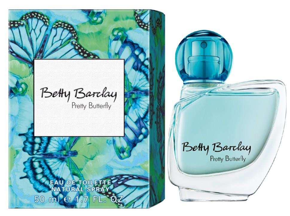 Betty Barclay Pretty Butterfly Туалетная вода 50 млBetty Barclay<br>Betty Barclay Pretty Butterfly - идеальный аромат для чувственных и уверенных в себе женщин в возрасте от 20 до 49, чья жизнь наполнена счастьем.<br>Мнение эксперта:<br>Девушка должна быть как бабочка. Приятно увидеть, трудно поймать<br>Состав:<br>Состав: : ALCOHOL, WATER (AQUA), FRAGRANCE (PARFUM), LIMONENE, BUTYLPHENYL METHYLPROPIONAL, LINALOOL, BENZYL SALICYLATE, BENZYL ALCOHOL, CITRONELLOL, ALPHA-ISOMETHYL IONONE, GERANIOL, ETHYLHEXYL METHOXYCINNAMATE, BUTYL METHOXYDIBENZOYLMETHANE, ETHYLHEXYL SALICYLATE, CITRAL, ISOEUGENOL, AMYL CINNAMAL, FARNESOL, HEXYL CINNAMAL, BHT, GREEN 3 (CI 42053), EXT. VIOLET 2 (CI 60730)<br><br>Вес г: 208<br>Бренд : Betty Barclay<br>Объем мл: 50<br>Возраст : 20+<br>Страна производитель : Германия<br>Вид Аромата : Цветочный<br>Шлейф : амбретта, розовое дерево, белый пачули<br>Верхняя Нота : Ежевика, маракуйя, лимон<br>Верхняя Нота : Ежевика, маракуйя, лимон
