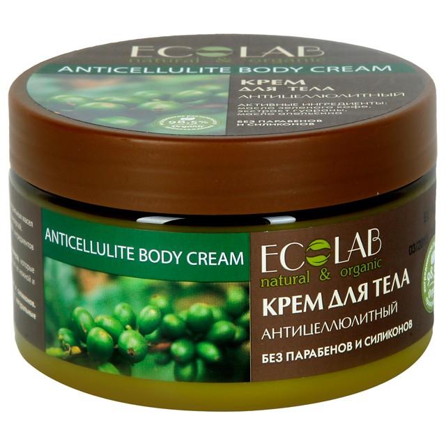 Ecolab Крем для тела АнтицеллюлитныйДля тела<br>Антицеллюлитный крем для тела Ecolab содержит более 98% ингредиентов растительного происхождения. В состав входят масло ши и масло кунжута, которые питают увлажняют и смягчают кожу, делают ее нежной и гладкой. Продукт не содержит парабенов и силиконов.<br><br>Вес г: 300<br>Бренд : Ecolab<br>Объем мл: 250<br>Страна производитель : Россия