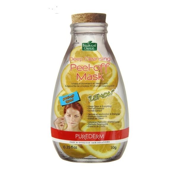 PUREDERM Маска-пилинг ЛимонМаски для лица<br>Маска- пленка мягко отшелушивает омертвевшие клетки кожи. Ароматный экстракт Лимона заряжает энергией и оставляет чувство свежести и чистоты. Маска-пленка плотно прилегает к коже, обеспечивая глубокое проникновение компонентов. В результате применения кожа выглядит чистой, гладкой и увлажненной.<br><br>Вес г: 15<br>Бренд : Purederm<br>Объем мл: 10<br>Тип кожи : все типы кожи<br>Консистенция маски : жидкая/пленочная<br>Часть лица : лицо<br>По времени суток : дневной уход<br>Назначение маски : увлажняющая, очищающая<br>Страна производитель : Южная Корея