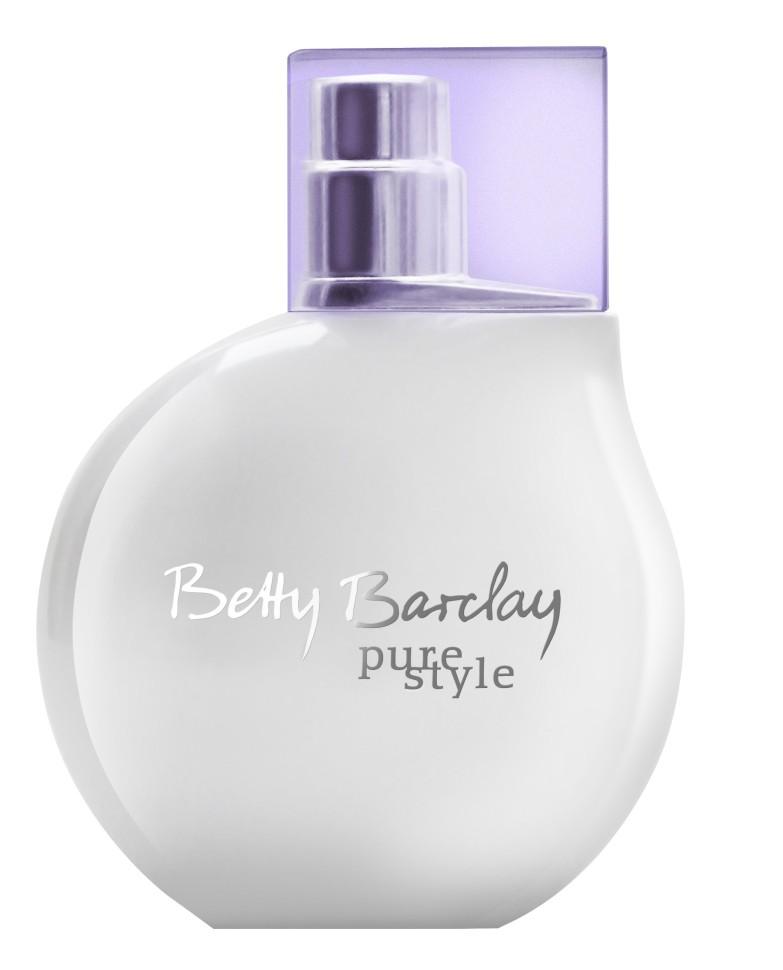 Betty Barclay Pure Style Туалетная вода 50 млBetty Barclay<br>Betty Barclay pure style - это чистая и прозрачная композиция, которая в то же время наполнена женственностью и мягкостью. Благодаря своему современному и яркому характеру аромат идеально сочетается с концепцией и олицетворяет белый цвет.<br>Состав:<br>Состав: ALCOHOL, WATER (AQUA), FRAGRANCE (PARFUM), LINALOOL, LIMONENE, BUTYLPHENYL METHYLPROPIONAL, HYDROXYCITRONELLAL, ALPHA-ISOMETHYL IONONE, CITRONELLOL, ETHYLHEXYL METHOXYCINNAMATE, GERANIOL, BUTYL METHOXYDIBENZOYLMETHANE,COUMARIN, ETHYLHEXYL SALICYLATE, CITRAL, BHT.<br><br>Вес г: 223<br>Бренд : Betty Barclay<br>Объем мл: 50<br>Возраст : 20+<br>Страна производитель : Германия<br>Вид Аромата : Цветочный<br>Шлейф : Белая амбра, кедровое дерево, белый мускус<br>Верхняя Нота : Бергамот, белая фрезия, белый персик<br>Верхняя Нота : Бергамот, белая фрезия, белый персик