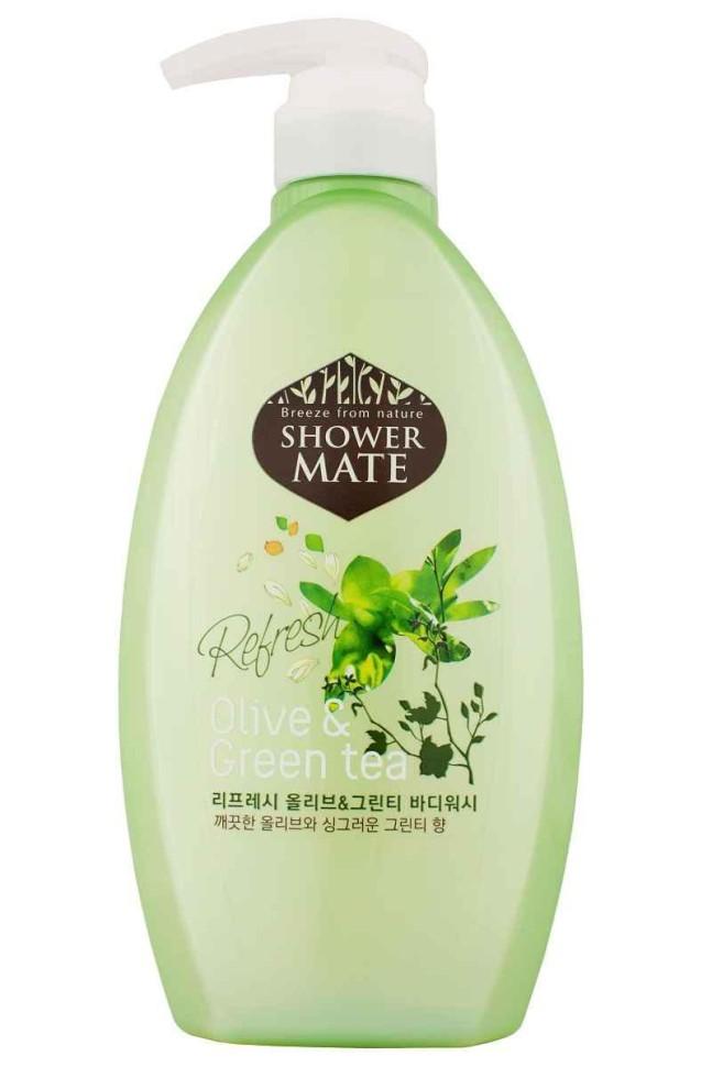 KeraSys Гель для душа Shower mate Оливки и зеленый чайKeraSys<br>KeraSys Shower Mate Body Cleanser/Soap Olive &amp;amp; Green teaДля всех типов кожиБогатый полезными веществами, экстракт оливы увлажняет и создает защитный слой для кожи;<br>Катехины зеленого чая предотвращают преждевременное старение кожи и способствуют ее омоложению;<br>Свежий аромат оливы и бодрящий аромат зеленого чая дарят ощущение прохлады и чистоты.Вес: гель для душа - 550г<br><br>Вес г: 600<br>Бренд: KeraSys<br>Объем мл: 550<br>Страна производитель: Корея