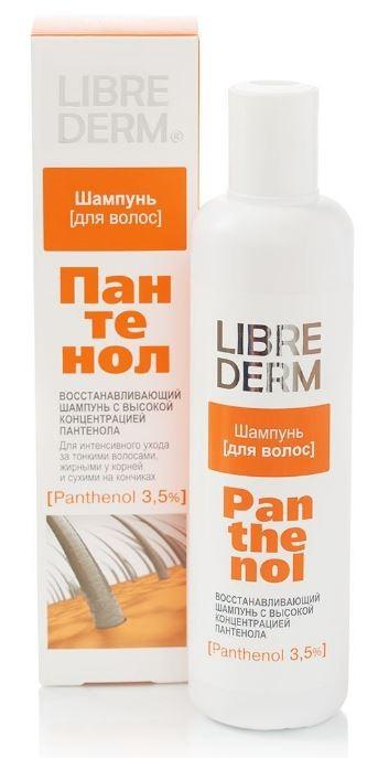 LIBREDERM ПАНТЕНОЛ Шампунь восстанавливающий с высокой концентрацией для тонких, жирных у корней и сухих на кончиках волосLibrederm<br>Высокая концентрация Пантенола (3,5%)! Пантенол оказывает восстанавливающее воздействие на кожу головы и на каждый волос не только снаружи, но и изнутри: улучшает обмен веществ кожи головы, нормализует работу сальных желез; питает и укрепляет корни волос; восстанавливает структуру сильно поврежденных волос; утолщает и укрепляет каждый волос, обладает разглаживающим эффектом; удерживает влагу внутри волоса, предотвращая пересушивание, ломкость, расслаивание и сечение.Эффект: при регулярном применении шампуня увеличивается объем, улучшается структура волос по всей длине, нормализуется состояние чувствительной кожи головы.<br><br>Вес г: 280<br>Бренд: Librederm<br>Объем мл: 250<br>Тип волос: смешанные, поврежденные, после хим. завивки, тонкие и ослабленные, длинные и секущиеся<br>Действие: питание, укрепление, восстановление, разглаживание<br>Тип средства для волос: шампунь<br>Страна производитель: Россия