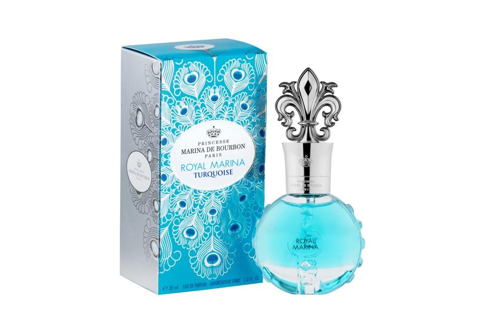 """Princesse Marina De Bourbon Paris Royal Marina Turquoise Парфюмерная вода 30 млMarina De Bourbon<br>Руководство по выбору:<br>При выборе обратите внимание на вид аромата и ноты, прислушайтесь к своим эмоциям.<br>Описание:<br>ФЛАКОН: Дизайн Royal Marina Turquoise вдохновлен яркими и прекрасными голубыми драгоценными камнями и их абсолютной чистотой, перьями павлина и изысканными шелками королевского двора, что делает этот аромат настоящим знаком величия и принадлежности к знатному роду. Акватический, спокойный и деликатный Royal Marina Turquoise с его бирюзовый оттенком вызывает очарование камня счастья для радужного настроения. Несколько капель """"Royal Marina Turquoise"""" перенесут вас на великолепные балы в интерьерах Замка Версаль. АРОМАТ Royal Marina Turquoise - это чистый и деликатный аромат. Oн открывается очаровательной смесью нот зеленого яблока, персика и «водянистых» фруктов, которые усиливаются зелеными нотами. В сердце аромата находятся свежий Ландыш, Жасмин и Магнолия. Сандал, мускус и Ваниль придают мягкий и сливочный оттенок основной базе.<br>Мнение эксперта:<br>Дизайн Marina de Bourbon Turquoise вдохновлен яркими и прекрасными голубыми драгоценными камнями. Для элегантной женщине, как комплимент самой себе. Принцесса Марина де Бурбон<br>Особенности состава:<br>Нежный, фруктовый, аромат.<br>Состав:<br>Состав: ALCOHOL DENAT. , PARFUM (FRAGRANCE), AQUA (WATER), ETHYLHEXYL METHOXYCINNAMATE, BUTYL METHOXYDIBENZOYLMETHANE, ETHYLHEXYL SALICYLATE, ), ALPHA-ISOMETHYL IONONE, BENZYL ALCOHOL, BENZIYL SALICYTATE, CITRONELLOL, GERANIOL, HEXYL CINNAMAL , HYDROXYCITRONELLAL, LIMONENE, LINALOOL, CI 17200 (RED 33), CI42090 (BLUE 1)<br><br>Вес г: 350<br>Бренд : Marina de Bourbon<br>Объем мл: 30<br>Возраст : 14+<br>Страна производитель : Франция<br>Вид Аромата : Цветочно, Фруктовый<br>Шлейф : Сандал, мускус, ваниль<br>Верхняя Нота : Зеленое яблоко,персик, фрукты<br>Верхняя Нота : Зеленое яблоко,персик, фрукты"""