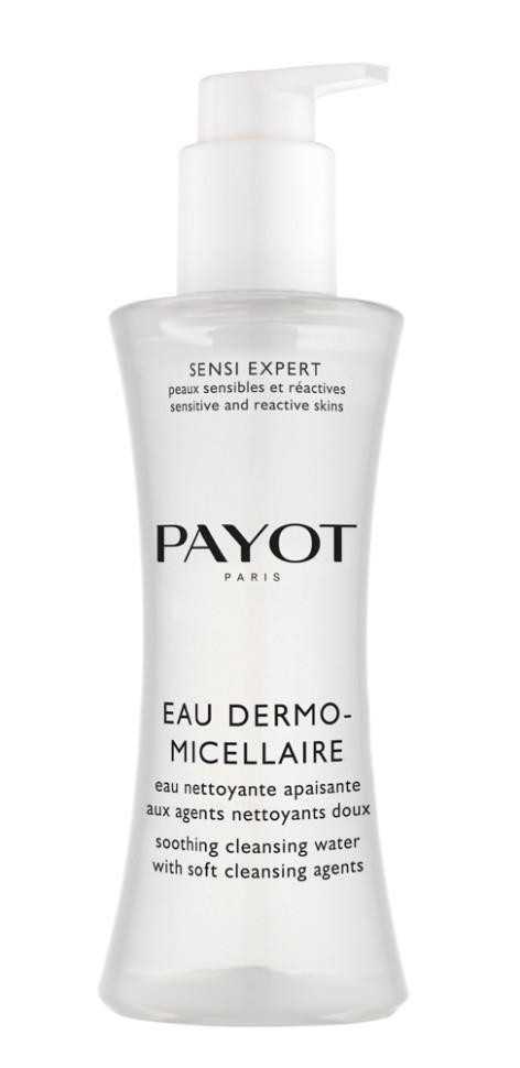 Payot Sensi Expert Мицеллярная вода 200 млPayot<br>Мицеллярная вода удаляет макияж, очищает и тонизирует кожу лица и области глаз, уменьшает покраснения и ощущение дискомфорта.<br>Способ применения:<br>Наносите воду утром и вечером с помощью ватного диска на кожу лица, шеи и декольте, а также области глаз. Не смывать водой!<br>Состав:<br>AQUA (WATER), GLYCERIN, PHENOXYETHANOL, POLOXAMER 184, PEG-80 GLYCERYL COCOATE, CETRIMONIUM BROMIDE, POLYAMINOPROPYL BIGUANIDE, CITRIC ACID<br><br>Вес г: 282<br>Бренд : Payot<br>Объем мл: 200<br>Тип кожи : все типы кожи<br>Возраст : 16+<br>Область применения : лицо, глаза<br>Вид средства для демакияжа : мицеллярная вода<br>Область применения : лицо, глаза<br>Страна производитель : Франция