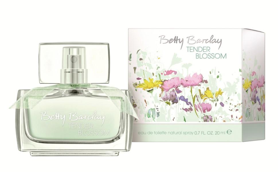 Betty Barclay Tender Blossom Туалетная вода 20 млBetty Barclay<br>Цветы создают особые взаимоотношения между людьми, дарят прекрасное романтическое настроение и наполняют радостью жизни.<br>Мнение эксперта:<br>Весной 2013 года палитра Betty Baclay дополняется новой эмоциональной и женственной линейкой TENDER BLOSSOM. Новый аромат Betty Barclay ориентирован на эмоциональных женщин, которые привыкли наслаждаться жизнью и притягивают к себе людей своей естественностью, открытым и позитивным настроением.<br>Состав:<br>Состав: ALCOHOL, WATER (AQUA), FRAGRANCE (PARFUM), BUTYLPHENYL METHYLPROPIONAL, LIMONENE, ALPHA-ISOMETHYL IONONE, LINALOOL, HYDROXYISOHEXYL 3-CYCLOHEXENE CARBOXALDEHYDE , CITRONELLOL, ETHYLHEXYL METHOXYCINNAMATE, BUTYL METHOXYDIBENZOYLMETHANE, HYDROXYCITRONELLAL, ETHYLHEXYL SALICYLATE, CITRAL, BENZYL ALCOHOL, CINNAMAL, GERANIOL, HEXYL CINNAMAL, BHT, YELLOW 5 (CI 19140), BLUE 1 (CI 42090)<br><br>Вес г: 148<br>Бренд : Betty Barclay<br>Объем мл: 20<br>Возраст : 20+<br>Страна производитель : Германия<br>Вид Аромата : Цветоный<br>Шлейф : Сандал, мускус, кедр<br>Верхняя Нота : Душистый горошек, личи, дыня<br>Верхняя Нота : Душистый горошек, личи, дыня