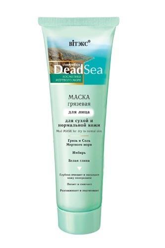 Витэкс Маска для лица грязевая для сухой и нормальной кожиВитэкс<br>Маска с целебной грязью Мертвого моря глубоко очищает, интенсивно питает, увлажняет и смягчает кожу. Насыщает клетки минералами и микроэлементами, восстанавливает естественный уровень увлажненности и энергетический баланс кожи. Активизируют обменные процессы, повышает упругость и эластичность. Подтягивает овал лица и разглаживает морщины. После использования маски кожа становится гладкой, нежной и бархатистой.<br><br>Вес г: 120<br>Бренд : Витэкс<br>Объем мл: 100<br>Тип кожи : нормальная, сухая<br>Консистенция маски : грязевая/глиняная<br>Часть лица : лицо<br>По времени суток : дневной уход<br>Назначение маски : увлажняющая, питательная, очищающая, омолаживающая<br>Страна производитель : Белоруссия