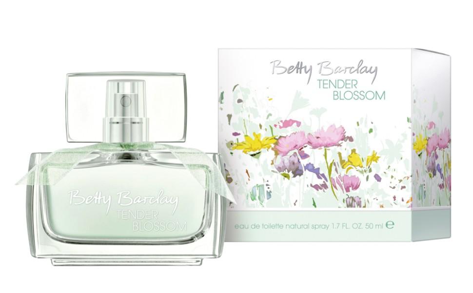 Betty Barclay Tender Blossom Туалетная вода 50 млBetty Barclay<br>Цветы создают особые взаимоотношения между людьми, дарят прекрасное романтическое настроение и наполняют радостью жизни.<br>Мнение эксперта:<br>Весной 2013 года палитра Betty Baclay дополняется новой эмоциональной и женственной линейкой TENDER BLOSSOM. Новый аромат Betty Barclay ориентирован на эмоциональных женщин, которые привыкли наслаждаться жизнью и притягивают к себе людей своей естественностью, открытым и позитивным настроением.<br>Состав:<br>Состав: ALCOHOL, WATER (AQUA), FRAGRANCE (PARFUM), BUTYLPHENYL METHYLPROPIONAL, LIMONENE, ALPHA-ISOMETHYL IONONE, LINALOOL, HYDROXYISOHEXYL 3-CYCLOHEXENE CARBOXALDEHYDE , CITRONELLOL, ETHYLHEXYL METHOXYCINNAMATE, BUTYL METHOXYDIBENZOYLMETHANE, HYDROXYCITRONELLAL, ETHYLHEXYL SALICYLATE, CITRAL, BENZYL ALCOHOL, CINNAMAL, GERANIOL, HEXYL CINNAMAL, BHT, YELLOW 5 (CI 19140), BLUE 1 (CI 42090)<br><br>Вес г: 224<br>Бренд : Betty Barclay<br>Объем мл: 50<br>Возраст : 20+<br>Страна производитель : Германия<br>Вид Аромата : Цветочный<br>Шлейф : Сандал, мускус, кедр<br>Верхняя Нота : Душистый горошек, личи, дыня<br>Верхняя Нота : Душистый горошек, личи, дыня