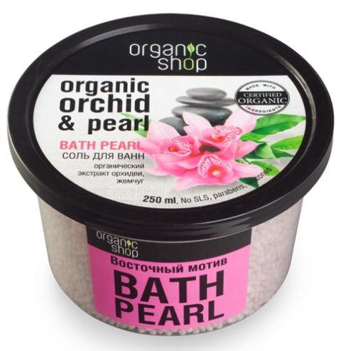 Organic shop соль для ванн восточный мотив 250 мл.Organic shop<br>Погрузитесь в мир роскоши и неповторимых эмоций, принимая ванну с изысканными жемчужинами Восточный мотив. Органический экстракт орхидеи омолаживает и увлажняет кожу. Жемчуг придает ей сияние и свежий вид.Использование: Растворите 4 столовые ложки во всем объеме ванны при температуре 36-38 градусов. Продолжительность приема процедуры 10-15 минут.Ингредиенты (INCI): Organic Cymbidium Grandiflorum Flower Extract (органический экстракт орхидеи), Jasminum Officinale Oil (масло жасмина), Cananga Odorata Flower Extract (эфирное масло иланг-иланг), Pearl Powder (морской жемчуг), Maris Salt (морская соль), Urea, Parfum, Ribes Nigrum Fruit, Citric Acid.Объем: 250 мл.<br><br>Вес г: 280<br>Бренд : Organic shop<br>Объем мл: 250<br>Страна производитель : Россия