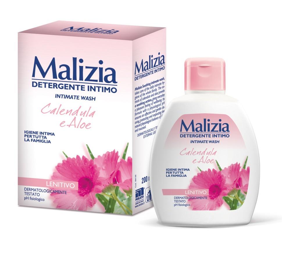 MALIZIA Гель для интимной гигиены Calendula and AloeMalizia<br>Malizia Гель для интимной гигиены календула и алоэ 200 мл.В состав средства входит календула, обладающая успокаивающим эффектом, снимает раздражения. Алоэ увлажняет, освежает и тонизирует чувствительную кожу интимных зон. Интимное мыло подходит для семейного применения.<br><br>Вес г: 250<br>Бренд : Malizia<br>Объем мл: 200<br>Страна производитель : Италия