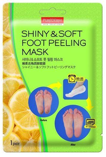 PUREDERM Маска отшелушивающая для ногPurederm<br>Эффективное средство в форме носочков для очищения огрубевшей кожи, придает гладкость коже ступней. Маска эффективно отшелушивает огрубевшую кожу, мозоли, трещины на пятках, бережно очищает, смягчает и питает кожу стоп, которая становится гладкой и мягкой в течение 10 дней. Лимон, апельсин, чайное дерево, мед и другие натуральные природные экстракты бережно смягчают и увлажняют кожу, в то время как кокосовое масло успокаивает кожу после эксфолиации.<br><br>Вес г: 20<br>Бренд: Purederm<br>Страна производитель: Корея