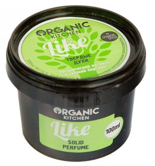 Organic shop Духи твердые Like 100млOrganic shop<br>Невероятно заманчивый и чарующий аромат подарит Вам отличное настроение и уверенность в себе! Основа духов – натуральное невероятно питательное и полезное для волос и тела масло ши. Композиция натуральных масел, органический ветивер и свежий бергамот окутают Вас нежной дымкой благоухания, увлажнят кожу и сделают ее мягкой и шелковистой. Ваше очарование никого не оставит равнодушным.Способ применения: Нанесите небольшое количество твердых духов на чистую кожу и волосы.Объем: 100 мл.<br><br>Вес г: 130<br>Бренд : Organic shop<br>Объем мл: 100<br>Страна производитель : Россия