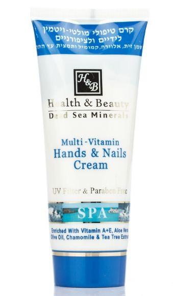 Health&amp;Beauty Крем для рук и ногтей мультивитаминный 250 млHealth&amp;Beauty<br>Крем обладает богатой нежной структурой, увлажняет, смягчает и подтягивает кожу рук, а также укрепляет ногтевую пластину, предотвращая расслоение и ломкость ногтей. Нежно защищая верхний слой кожи, нейтрализуя вредное воздействие моющих средств и солнечных лучей, этот крем выполняет роль перчатки.<br><br>Вес г: 300<br>Бренд: Health &amp; Beauty<br>Объем мл: 250<br>Средство для рук: крем, для рук и ногтей<br>Страна производитель: Израиль