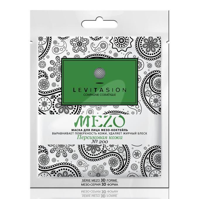 VILENTA Levitasion MEZO-маска тканевая №200 Персиковая кожа мезо-коктейль выравнивает поверхность кожиVilenta<br>Выравнивает поверхность кожи, оказывает противовоспалительное и <br>регенерирующее действие,  нормализует гидролипидный баланс, удаляет <br>жирный блеск, дарит выраженный омолаживающий эффект, делает кожу нежной и<br> шелковистой. Результат: Кожа становится матовой и гладкой, сохраняя свою<br> естественную молодость и красоту.<br><br>Вес г: 50<br>Бренд : Vilenta<br>Объем мл: 30<br>Тип кожи : все типы кожи<br>Консистенция маски : тканевая<br>Часть лица : лицо<br>По времени суток : дневной уход<br>Назначение маски : восстанавливающая, омолаживающая, противовоспалительная, матирующая, выравнивающая<br>Страна производитель : Китай