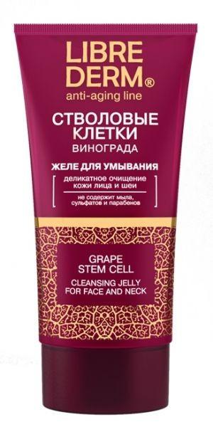 LIBREDERM СТВОЛОВЫЕ КЛЕТКИ Винограда Желе для умывания лица ANTI-AGELibrederm<br>Стволовые клетки – безопасные материнские клетки, которые регулируют все процессы роста растений и удивительным образом влияют на нашу кожу: она получает заряд энергии для того, чтобы процессы восстановления шли быстрее и эффективнее.Это поистине чудесное научное открытие и родственный коже компонент, который уже называют золотым стандартом в косметологии!Для очищения кожи и сохранения ее молодости лаборатория LIBREDERM создала бесподобно нежное желе для умывания.При умывании образуется легкая эмульсия, которая бережно и эффективно очищает от макияжа и загрязнений, не раздражает и не пересушивает кожу.Желе особенно рекомендуется очищения сухой, тонкой и чувствительной кожи. Не содержит мыла, сульфатов и парабенов.Эффект: Бережно и и эффективно очищает от макияжа и загрязнений. Не стягивает кожу.<br>Область применения: желе для умывания применяется для деликатного очищения лица и шеи.<br><br>Вес г: 170<br>Бренд : Librederm<br>Объем мл: 150<br>Тип кожи : сухая, чувствительная<br>Вид очищающего средства : гель<br>Страна производитель : Россия
