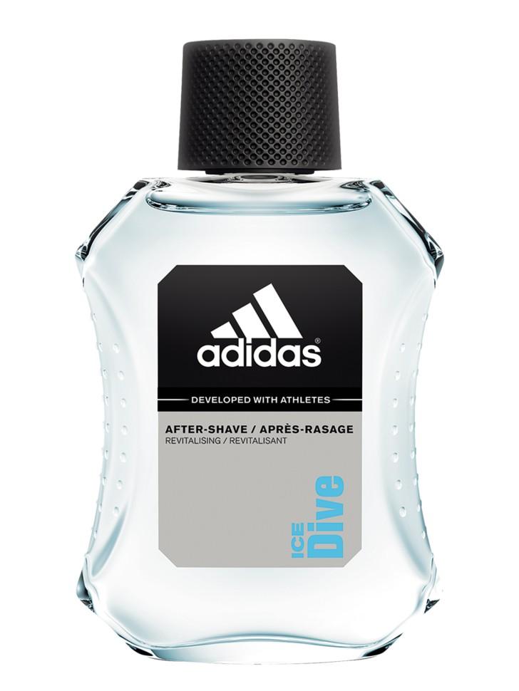 Adidas Ice Dive Лосьон после бритья 50 млAdidas<br>Лосьон после бритья Adidas Ice Dive содержит формулу со специальным комплексом skin protect complex, который защищает кожу, уменьшает раздражение, заряжает энергией. Основные компоненты комплекса:. - аллантоин увлажняет и успокаивает кожу, заживляет мелкие порезы; - витамины защищают кожу от антиоксидантов; - минеральные соли заряжают энергией и тонизируют; - спирт обладает антибактериальным действием; - UF фильтры защищают кожу от ультра фиолетовых лучей.<br>Состав:<br>Денатурат, вода, ароматизатор, гидрогенизированное касторовое масло PEG-40,аллантоин, этилгексил метоксицинамат, бензофенон-3, этигексил сицилат, аллантоин, бутил метоксидибензолметан, пропилен гликоль, линоламидопропил PG-димониум хлорид фосфата, токоперил ацетат, полисорбат 20, линоленовая кислота, глюконат цинка, потасиум гликонат CL60730, CL19140, CL42090.<br><br>Вес г: 181<br>Бренд : Adidas<br>Объем мл: 50<br>Страна производитель : Испания