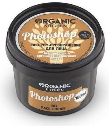Organic shop Крем BB преображение для лица Photoshop100млВаша кожа, как картинка из гламурного журнала – абсолютно совершенна! Крем-преображение, словно фотошоп - маскирует дефекты, заполняет морщинки, стирает следы усталости, придает коже сияющий, здоровый вид. Золотой воск питает и защищает кожу, снимает раздражение и дарит ей красивый оттенок. Органическая рисовая пудра регулирует жировой баланс, осветляет и маскирует недостатки.Способ применения: Небольшое количество крема нанесите на чистую сухую кожу лица и шеи легкими массирующими движениями, равномерно распределите пальцами или спонжем.Объем: 100 мл.<br><br>Вес г: 130<br>Бренд : Organic shop<br>Объем мл: 100<br>Упаковка : баночка<br>Тип кожи : все типы кожи<br>Степень покрытия : легкая<br>Эффект от нанесения : матирующий, сияние, питание<br>Тип тонального средства : крем<br>Страна производитель : Россия