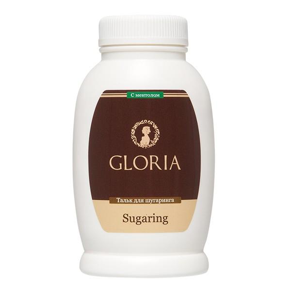 Gloria Тальк с ментолом 90 грGloria<br>Gloria - Тальк для шугаринга (90 гр).<br><br>Вес г: 140<br>Бренд: Gloria<br>Объем мл: 90<br>Тип кожи: все типы кожи<br>Тип средства для депиляции: перед депиляцией, тальк
