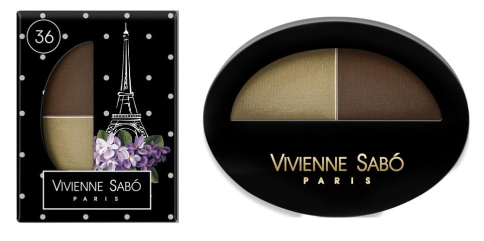 Vivienne Sabo двойные тени для век Jeter du Chic (36 золотой+коричневый)Vivienne Sabo<br>Великолепный дуэт, сочетающий в себе два оттенка: темный и светлый — это все, что нужно для того, чтобы выглядеть шикарно! Удивительные контрасты и волнующие комбинации тонов для обворожительных глаз. Мягкая шелковистая текстура двойных теней для век Vivienne Sabo оставляет длительное ощущение комфорта на веке! Новая овальная упаковка с «окошком» — для удобства в выборе любимого оттенка  Свойства  - Дуэт теней светлого и темного  - Мягкая текстура легко наносится и растушевывается оставляя ощущение комфорта  - Устойчивый результат — тени держатся весь день и не требуют под правления, без скатывания в складочке века  - Яркие переливчатые цвета для выразительного вечернего макияжа  - Приглушенные и классические цвета для дневного и делового макияжа<br><br>Бренд : Vivienne Sabo<br>В комплекте : аппликатор<br>Способ нанесения : сухой<br>Эффект на веках : матовый<br>Тип теней : компактные<br>Страна производитель : Франция