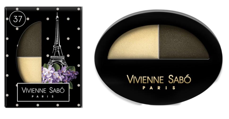 Vivienne Sabo двойные тени для век Jeter du Chic (37 песочный+зел.бронзовый)Vivienne Sabo<br>Великолепный дуэт, сочетающий в себе два оттенка: темный и светлый — это все, что нужно для того, чтобы выглядеть шикарно! Удивительные контрасты и волнующие комбинации тонов для обворожительных глаз. Мягкая шелковистая текстура двойных теней для век Vivienne Sabo оставляет длительное ощущение комфорта на веке! Новая овальная упаковка с «окошком» — для удобства в выборе любимого оттенка  Свойства  - Дуэт теней светлого и темного  - Мягкая текстура легко наносится и растушевывается оставляя ощущение комфорта  - Устойчивый результат — тени держатся весь день и не требуют под правления, без скатывания в складочке века  - Яркие переливчатые цвета для выразительного вечернего макияжа  - Приглушенные и классические цвета для дневного и делового макияжа<br><br>Вес г: 15<br>Бренд: Vivienne Sabo<br>В комплекте: аппликатор<br>Способ нанесения: влажный<br>Эффект на веках: сатиновый<br>Тип теней: палитра теней<br>Страна производитель: Франция