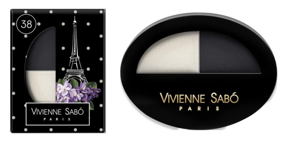 Vivienne Sabo двойные тени для век Jeter du Chic (38 белый+черный)Vivienne Sabo<br>Великолепный дуэт, сочетающий в себе два оттенка: темный и светлый — это все, что нужно для того, чтобы выглядеть шикарно! Удивительные контрасты и волнующие комбинации тонов для обворожительных глаз. Мягкая шелковистая текстура двойных теней для век Vivienne Sabo оставляет длительное ощущение комфорта на веке! Новая овальная упаковка с «окошком» — для удобства в выборе любимого оттенка  Свойства  - Дуэт теней светлого и темного  - Мягкая текстура легко наносится и растушевывается оставляя ощущение комфорта  - Устойчивый результат — тени держатся весь день и не требуют под правления, без скатывания в складочке века  - Яркие переливчатые цвета для выразительного вечернего макияжа  - Приглушенные и классические цвета для дневного и делового макияжа<br><br>Вес г: 15<br>Бренд : Vivienne Sabo<br>В комплекте : аппликатор<br>Способ нанесения : сухой<br>Эффект на веках : матовый<br>Тип теней : компактные<br>Страна производитель : Франция
