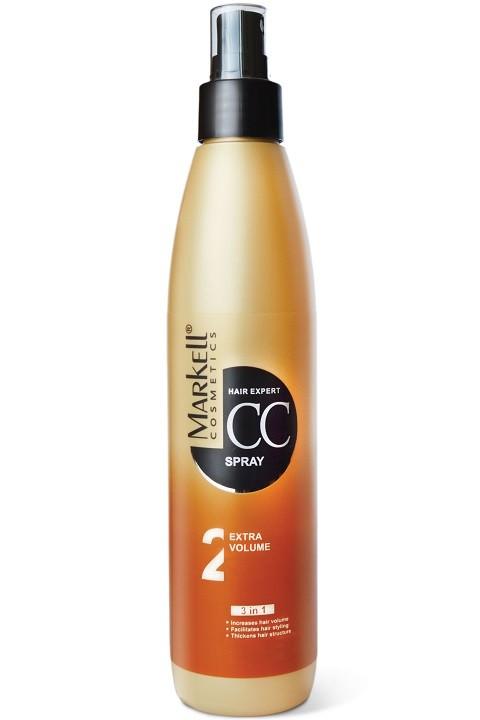 Markell CC-спрей Экстра объем для волосMarkell<br>увеличивает объем волособлегчает укладкууплотняет структуру волосСпрей создает невероятный объем, обеспечивает превосходное кондиционирование, снимает статическое электричество, устраняет ломкость и сухость волос, способствует восстановлению сезонных потерь волос и нормального цикла роста волос.Применение: Нанести спрей на чистые влажные волосы, равномерно распределить по всей длине, уложить с помощью фена или утюжка.<br><br>Вес г: 280<br>Бренд : Markell<br>Объем мл: 250<br>Тип волос : тонкие и ослабленные, длинные и секущиеся, все типы волос<br>Действие : восстановление, для объема, легкое расчесывание<br>Тип средства для волос : спрей<br>Страна производитель : Белоруссия