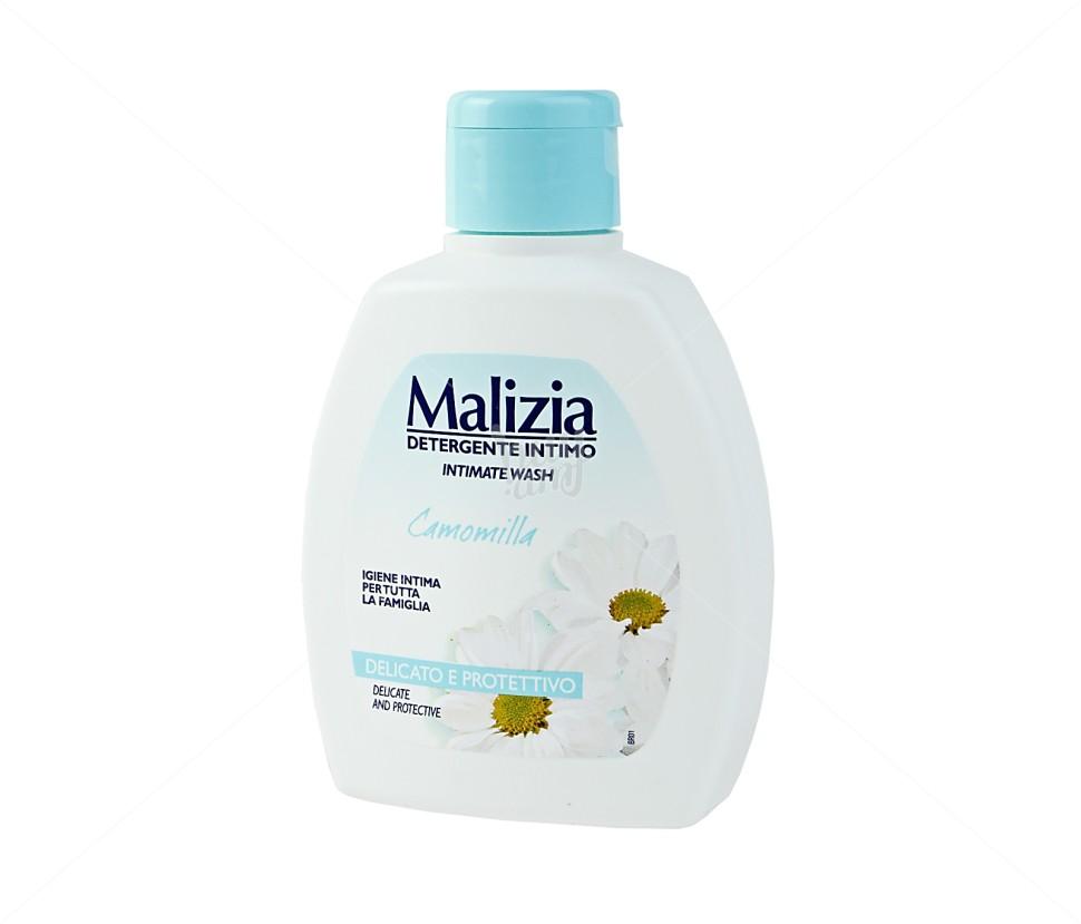 MALIZIA Гель для интимной гигиены CamomillaMalizia<br>Нежное средство для интимной гигиены с экстрактом ромашки и маслом хлопка. Бережно очищает слизистую, не сушит и не вызывает раздражения. Деликатный подход за приемлемую цену!<br><br>Вес г: 250<br>Бренд : Malizia<br>Объем мл: 200<br>Страна производитель : Италия