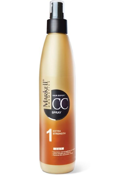 Markell CC-спрей Экстра-сила для волоспитает и укрепляет корни волоспридает прочность и эластичностьснимает электростатическое напряжениеОбеспечивает дополнительный уход ослабленным уставшим волосам, укрепляет волосяные луковицы, восстанавливает нормальный цикл роста волос, помогает восстановить сезонные потери волос, защищает и усиливает волосяные луковицы, восстанавливает нормальный цикл роста волос. Экстракт женьшеня обладает стимулирующей и тонизирующей активностью, ускоряет регенерацию корней волос, оказывает заживляющее и бактерицидное действие.Применение: Нанести спрей на чистые влажные волосы, равномерно распределить по всей длине, уложить с помощью фена или утюжка.<br><br>Вес г: 280<br>Бренд : Markell<br>Объем мл: 250<br>Тип волос : тонкие и ослабленные, длинные и секущиеся<br>Действие : питание, укрепление, восстановление, блеск и эластичность<br>Тип средства для волос : спрей<br>Страна производитель : Белоруссия