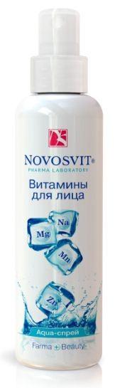 Novosvit AQUA-спрей витамины для лицаNovosvit<br>Действие— Увлажняет и успокаивает кожу— Восстанавливает водный баланс— Предотвращает покраснения и раздражение— Избавляет от сухости и стянутости кожиЭффективность:Комплекс 4-х минералов «Physiogenyl» специально разработан для питания кожи.Его активность основана на синергизме микроэлементов — Na, Mg, Zn, Mn, играющих важную роль в клеточном обмене веществ.Мгновенно увлажняет и успокаивает кожу, избавляет от ощущения сухости и стянутости кожи. Восстанавливает минеральный баланс, усиливает естественные защитные функции кожи, предотвращает покраснения и раздражения, улучшает цвет лица.Идеально предохраняет от обезвоживания и успокаивает кожу после солнца, во времяавиаперелетов, занятий спортом, на работе в условиях пересушенного воздуха.Способ применения:Распыляйте на расстоянии 20 см на кожу лица и зону декольте. При необходимости излишки промокните салфеткой. Можно распылять поверх макияжа. Подходит для всех типов кожи. Возможна индивидуальная непереносимость компонентов.Объем:190 мл<br><br>Вес г: 220<br>Бренд : Novosvit<br>Объем мл: 190<br>Тип кожи : все типы кожи<br>Страна производитель : Россия