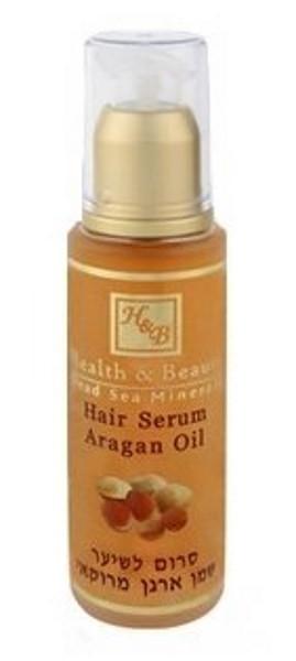 Health&amp;Beauty Серум для волос на основе масла АрганыHealth&amp;Beauty<br>Современное средство для ухода за волосами и быстрого улучшения их внешнего вида. Cерум (сыворотка) предназначен для сухих, секущихся и поврежденных волос. Серум (сыворотка) увлажняет волосы, восстанавливает их эластичность и естественный блеск. Обогащая волосы натуральными силиконами и маслами, предотвращает дальнейшее расслаивание секущихся кончиков волос, придает волосам эластичность, делая их живыми и привлекательными; защищает волосы от воздействия неблагоприятных природных факторов. Не оставляет ощущения жирности. Облегчает укладку волос. Обогащен витамином Е, минералами Мертвого моря, высокой концентрацией масла льна и аргановым маслом. Прекрасно подходит для всех типов волос.<br><br>Вес г: 70<br>Бренд: Health &amp; Beauty<br>Объем мл: 50<br>Тип волос: поврежденные, длинные и секущиеся<br>Действие: укрепление, восстановление, блеск и эластичность<br>Тип средства для волос: сыворотка/эссенция<br>Страна производитель: Израиль