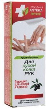 БИОКОН Дежурная Аптека Крем-Бальзам для сухой кожи рук,локтей и коленейБИОКОН<br>Эффективно увлажняет и питает целебными веществами в течение длительного времени. Устраняет шелушение и сухость кожи.<br><br>Вес г: 95<br>Бренд : Биокон<br>Объем мл: 75<br>Страна производитель : Россия