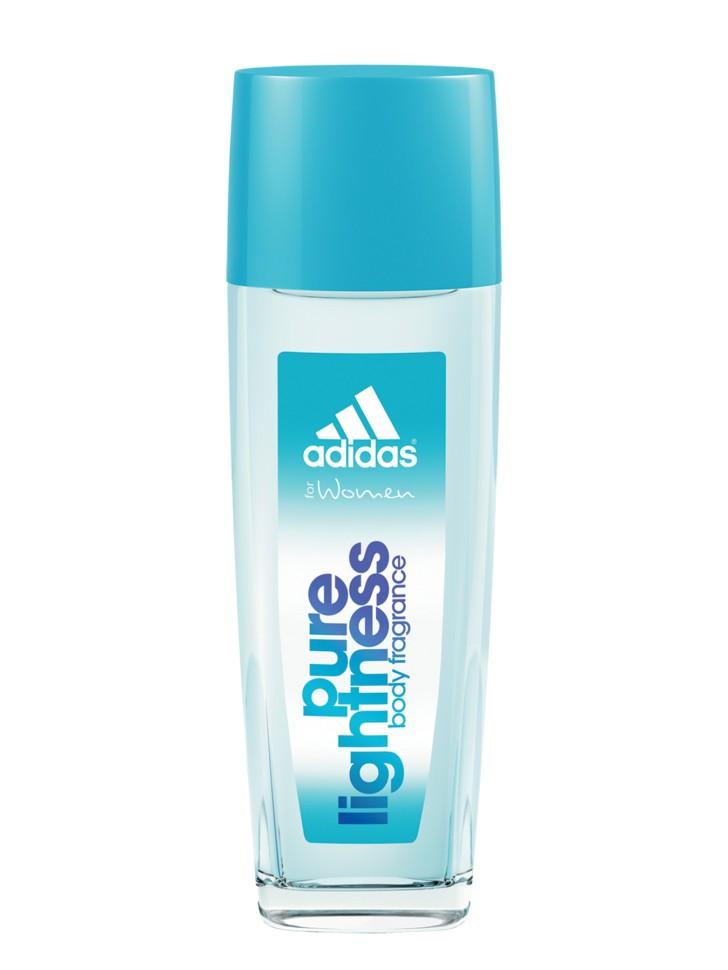 Adidas Pure Lightness Парфюмерная вода 75 млAdidas<br>Описание:<br>Тонкий аромат Adidas Pure Lightness идеально подходит для романтичных девушек. Легкий освежающий аромат тела. Содержит небольшое количество спирта и парфюмерной композиции, что делает его идеальным для использования в качестве ароматизирующего средства в течение активного дня. Входящие в состав увлажняющие компоненты освежают и тонизируют кожу. Спрей сочетает уход и парфюм одновременно, его можно наносить до спортивной тренировки, во время и после.<br>Состав:<br>AQUA/WATER/EAU, ALCOHOL DENAT., PARFUM/FRAGRANCE, PEG-40 HYDROGENATED CASTOR OIL, ETHYLHEXYL METHOXYCINNAMATE, TRIETHYL CITRATE, LIMONENE, LINALOOL, BENZOPHENONE-3, FARNESOL, BUTYLPHENYL METHYLPROPIONAL, CITRONELLOL, CITRAL, PROPYLENE GLYCOL, HEXYL CINNAMAL, GERANIOL, COUMARIN, BHT, FD&amp;amp;C YELLOW NO.5 (CI 19140), FD&amp;amp;C BLUE NO.1 (CI 42090), EXT.D&amp;amp;C VIOLET NO.2 (CI 60730)<br><br>Вес г: 274<br>Бренд : Adidas<br>Объем мл: 75<br>Страна производитель : Испания<br>Вид Аромата : свежий цветочный<br>Шлейф : абрикос, персик, мускус<br>Верхняя Нота : дыня, яблоко, акватический аккорд<br>Верхняя Нота : дыня, яблоко, акватический аккорд