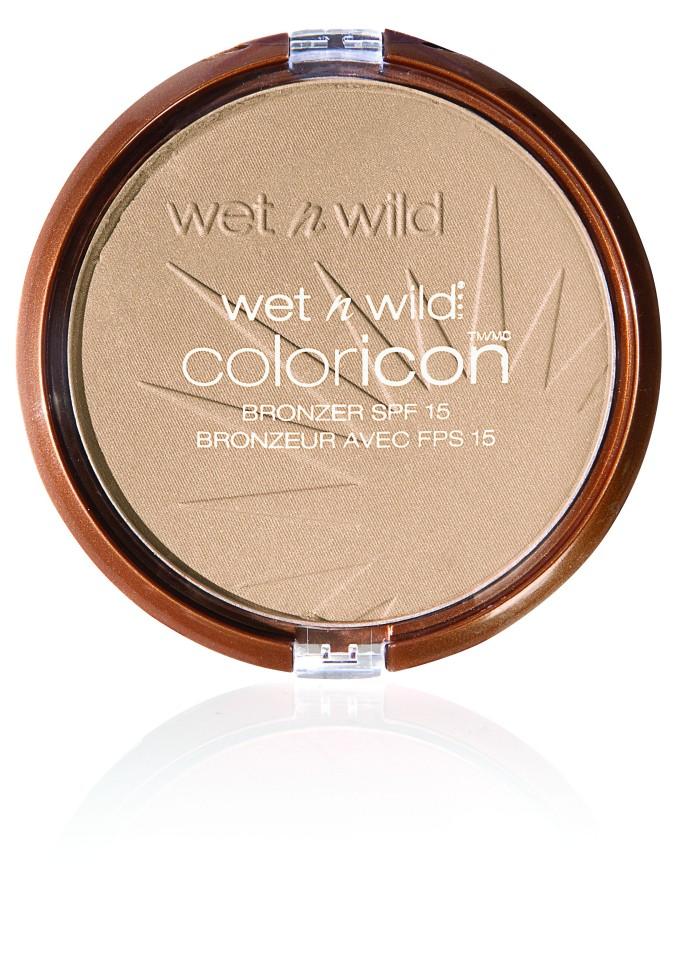 Wet n Wild Компактная пудра для лица Бронзатор Color Icon Bronzer (E7431 reserve your cabana)Wet n Wild<br>Пудра-бронзатор придает коже лица ровный легкий бархатистый эффект загара. Протестировано дерматологами. Формула содержит Защитный SPF фильтр. Уровень защиты 15.Способ применения:<br>аккуратно нанести на лицо специальной кистью<br>Состав:<br>Mica, Ethylhexyl Methoxycinnamate, Boron Nitride, Cyclopentasiloxane, Phenyl Trimethicone, Benzophenone-3, Nylon-12, Caprylyl Glycol, Methicone, Dimethicone Crosspolymer, Alumina, Bisabolol, Caprylhydroxamic Acid, Glycerin, Dimethicone/Vinyl Dimethicone Crosspolymer, Dimethiconol, [+/- (MAY CONTAIN): Iron Oxides/CI 77491, CI 77492, CI 77499, Titanium Dioxide/CI 77891 (nano), Manganese Violet/CI 77742, Titanium Dioxide/CI 77891]<br><br>Вес г: 100<br>Бренд : Wet&amp;Wild<br>Эффект покрытия : оттенок загара<br>Тип пудры : бронзирующая<br>Зеркало : Нет<br>Фактор SPF : 15<br>Страна производитель : Китай