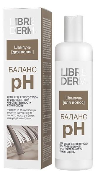 LIBREDERM Шампунь рН-Баланс любого типа волос с повышенной чувствительностью кожи головыШампунь «pH-БАЛАНС» Либридерм предназначен для ежедневного ухода за волосами любого типа для людей с повышенной чувствительностью кожи головы.Формула шампуня специально разработана на основе овсяных ПАВ. Овсяные поверхностно-активные вещества (ПАВ) получены ацилированием аминокислот овсяного зерна. В несколько раз менее агрессивны по сравнению с привычными ПАВами. Овсяный ПАВ не меняет барьерные функции кожи, что делает его ультрамягким пенообразователем, который может быть использован во всех нежных очищающих формулах.Не содержит искусственных отдушек, красителей и парабенов.Состав: пантенол, лимонная кислота, гидроксипропил гуар и гидроксипропилтримониум хлорид, трилон Б, метилхлоризотиазолинон и метилизотиазолинон.<br>Область применения: шампунь для ежедневного ухода при повышенной чувствительности кожи головы.<br><br>Вес г: 280<br>Бренд : Librederm<br>Объем мл: 250<br>Тип волос : все типы волос<br>Действие : увлажнение, укрепление<br>Тип средства для волос : шампунь<br>Страна производитель : Россия
