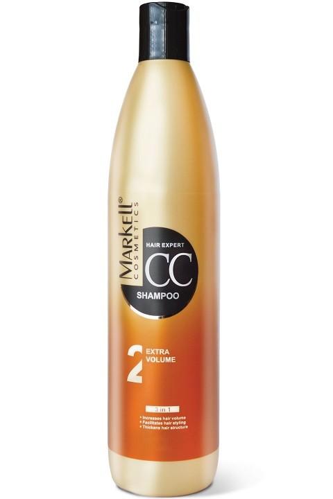 Markell CC-шампунь Экстра объем для волосMarkell<br>увеличивает объем волособлегчает укладкууплотняет структуру волосЭффективно очищает волосы и кожу головы, придает невероятный объем, снимает электростатическое напряжение, обволакивает волосы защитной пленкой, способствует восстановлению сезонных потерь волос, защищает и укрепляет волосяные луковицы, восстанавливает нормальный цикл роста волос.Применение: небольшое количество шампуня нанести на влажны волосы, вспенить и помассировать. Выдержать 1-2 минуты. Тщательно промыть водой.<br><br>Вес г: 550<br>Бренд : Markell<br>Объем мл: 500<br>Тип волос : тонкие и ослабленные, длинные и секущиеся, все типы волос<br>Действие : укрепление, восстановление, для объема<br>Тип средства для волос : шампунь<br>Страна производитель : Белоруссия