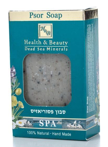 Health&amp;Beauty Мыло для ухода за кожей при псориазеМыло<br>Псориаз является генетическим хроническим заболеванием кожи. Обычно псориаз вызывает образование чрезмерно сухих, красных, приподнятых над поверхностью кожи пятен, преимущественно на локтях, коленях и волосистой части головы. Такая кожа нуждается в увлажнении и успокоении. Уникальное натуральное мыло гипоаллергенно и производится вручную. Уровень Ph мыла оптимален для кожи, снимает сухой слой кожи, успокаивает покраснение и зуд и является эффективным лечением при проблемной коже. Обогащен минералами Мертвого моря, бензоином - универсальным средством при раздраженной коже, оливковым маслом, грязью Мертвого моря, успокаивающим экстрактом алоэ вера и ромашки, бергамота, герани, чайного дерева. Содержит масла лаванды и календулы, оказывающие противовоспалительное действие и способствующие заживанию ран. Кроме того, рекомендуется при экземе.<br><br>Вес г: 135<br>Бренд : Health &amp; Beauty<br>Объем мл: 125<br>Страна производитель : Израиль