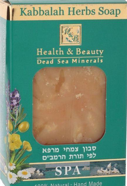 Health&amp;Beauty Мыло травяное по рецептам КаббалыМыло<br>Мыло изготовлено с использованием тысячелетних рецептов Маймонидов и Каббалы, которые в своих учениях придавали большое значение лечению кожных заболеваний целебными травами. Уже после первого применения заметна разница. Это натуральное мыло изготовлено вручную, очищает, увлажняет и защищает кожу. Благодаря своим противовоспалительным и антисептическим свойствам лекарственные растения восстанавливают поврежденные ткани кожи и способствуют заживлению ран. Помогает при варикозном расширении вен, экземе, геморрое и трещинах, пролежнях, укусах и ожогах, дерматите, себореи и для женской гигиены. В состав мыла входят эвкалиптовое масло, экстракт меда, экстракт календулы, чистое оливковое масло, масло Ши, масло какао, натуральный Алоэ Вера, трава лимона, бергамот, витамины А + Е + D. Доказано: ощутимый результат при регулярном использовании. Это мыло просто необходимо в каждом доме.<br><br>Вес г: 135<br>Бренд : Health &amp; Beauty<br>Объем мл: 125<br>Страна производитель : Израиль
